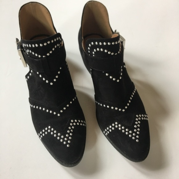 Qupid Shoes | Black Studded Ankle